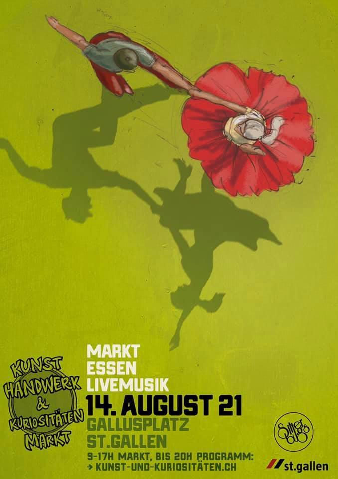 St. Gallen: Kunst-Handwerk und Kuriositäten Markt, 14.08 ...